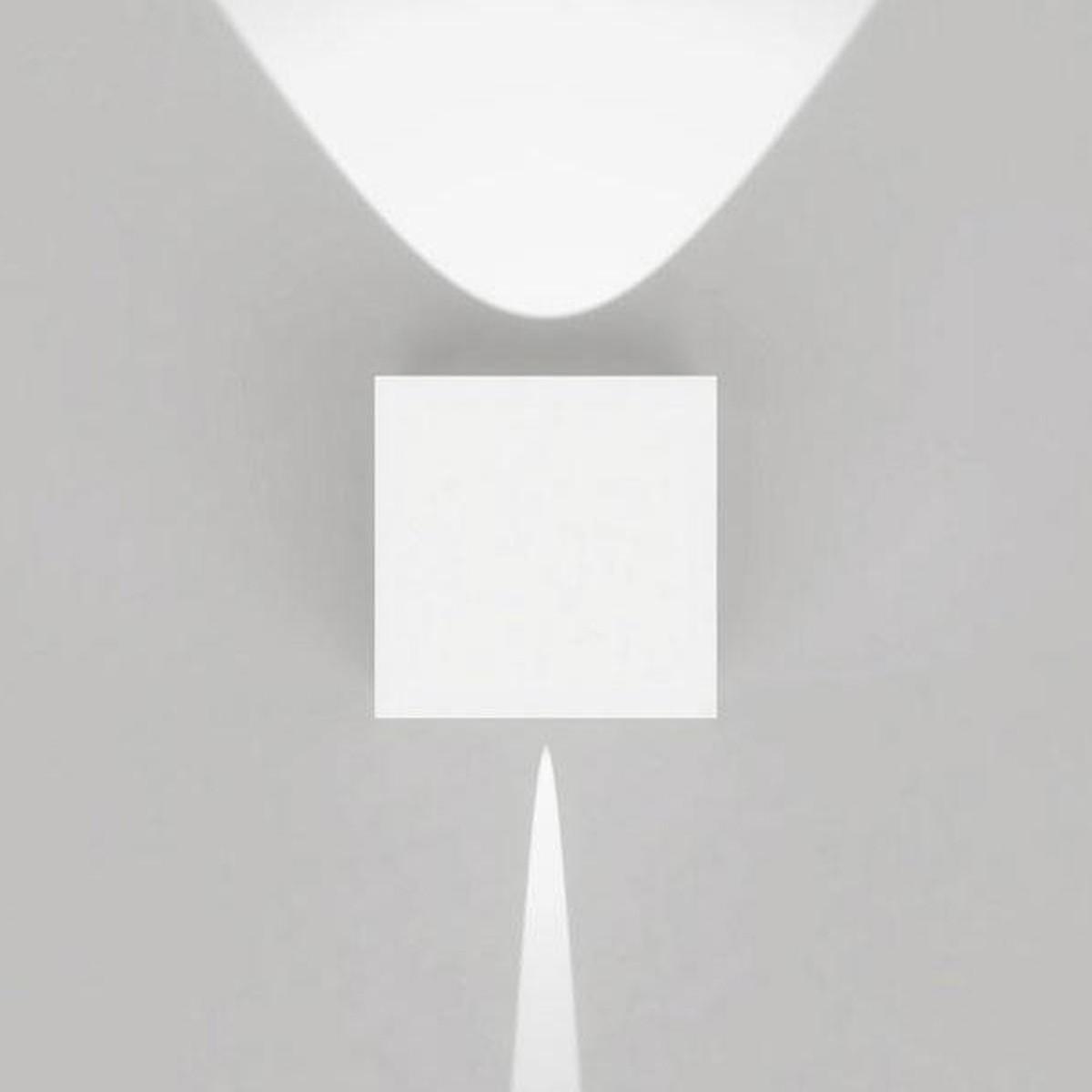 Artemide Outdoor Effetto 14S LED NL Wandleuchte, 1 x 5° und 1 x 50°, 3000 K, hellgrau
