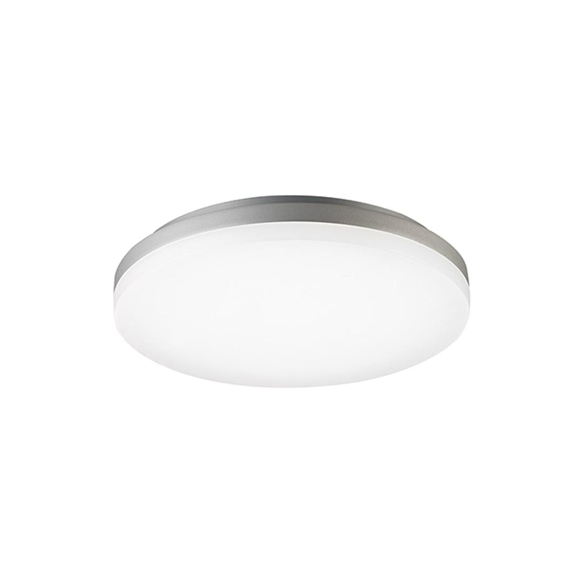 Sigor Circel LED Deckenleuchte, Ø: 27 cm, 3000 K, Silber