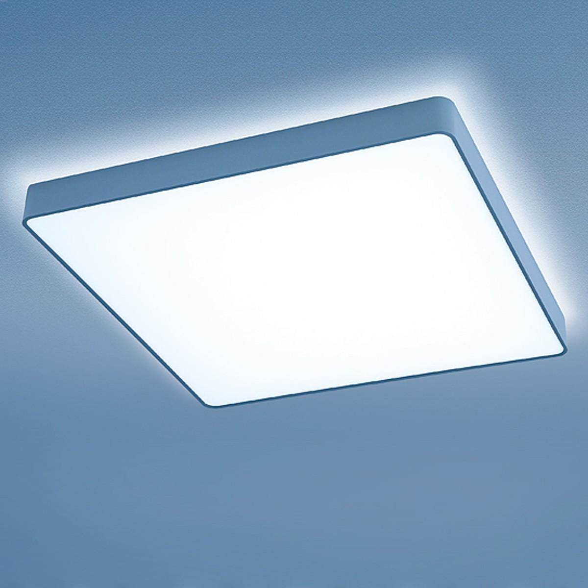 Lightnet Caleo-X2 Wand- / Deckenleuchte, Opal, 33 x 33 cm, Silber matt