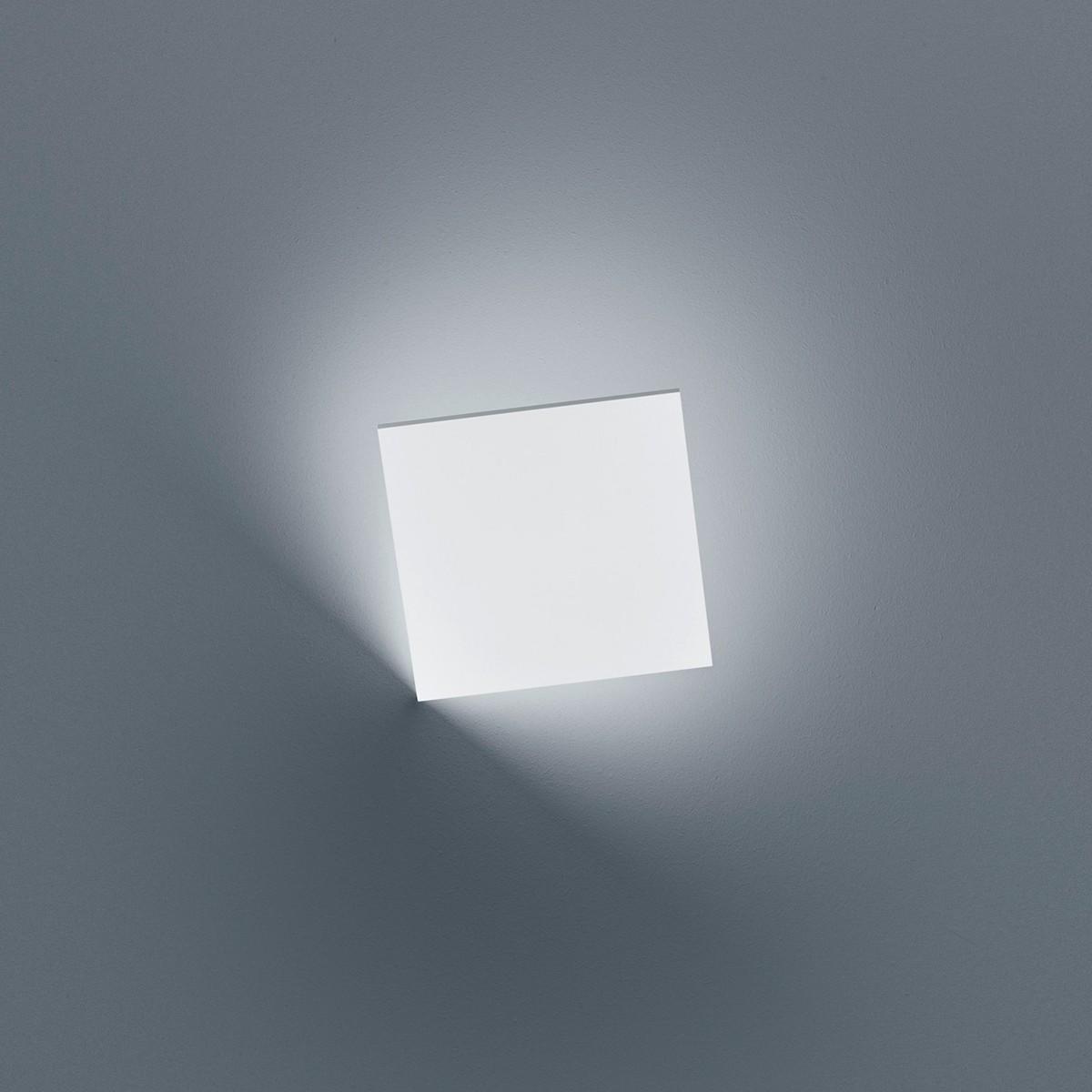 Helestra Meta LED Außenwandleuchte, weiß matt