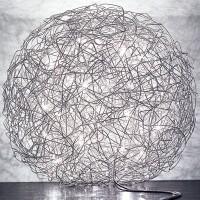 Fil de Fer Bodenleuchte, Ø: 120 cm, Aluminium, nicht dimmbar