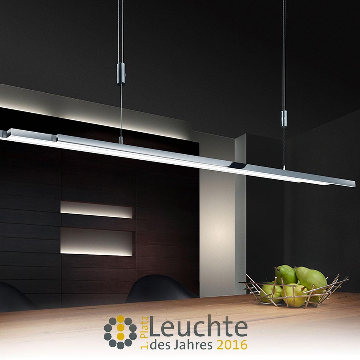 Bankamp L-lightLINE Pendelleuchte, Nickel matt / Chrom