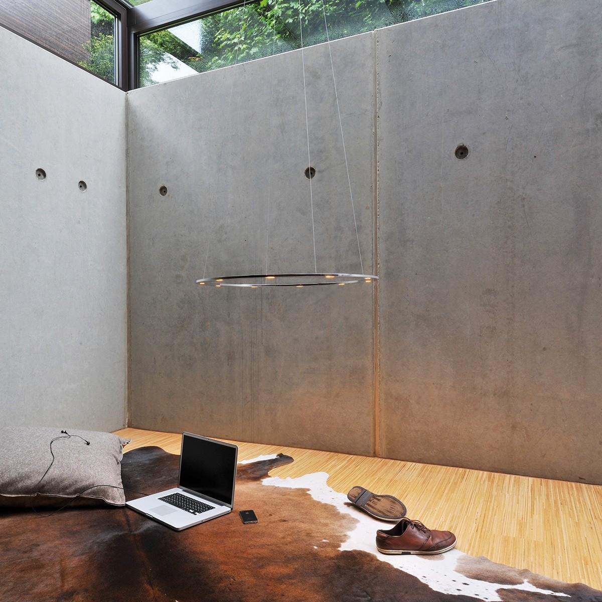 Byok Piani Rondo Pendelleuchte, Ø: 68 cm, Aluminium poliert