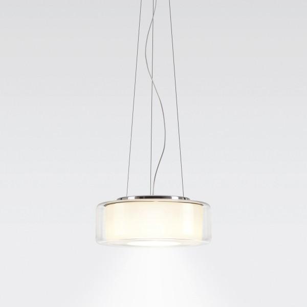 Serien.lighting Curling Suspension Rope LED Small, Schirm: klar, Reflektor: zylindrisch opal