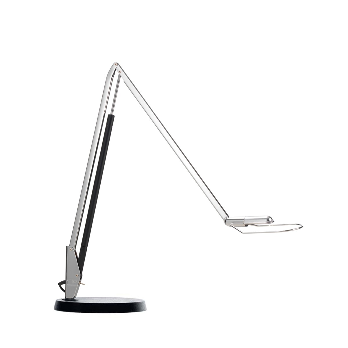 Belux Liftolino-42 LED Tischleuchte, 3000 K, Chrom, Fuß: schwarz