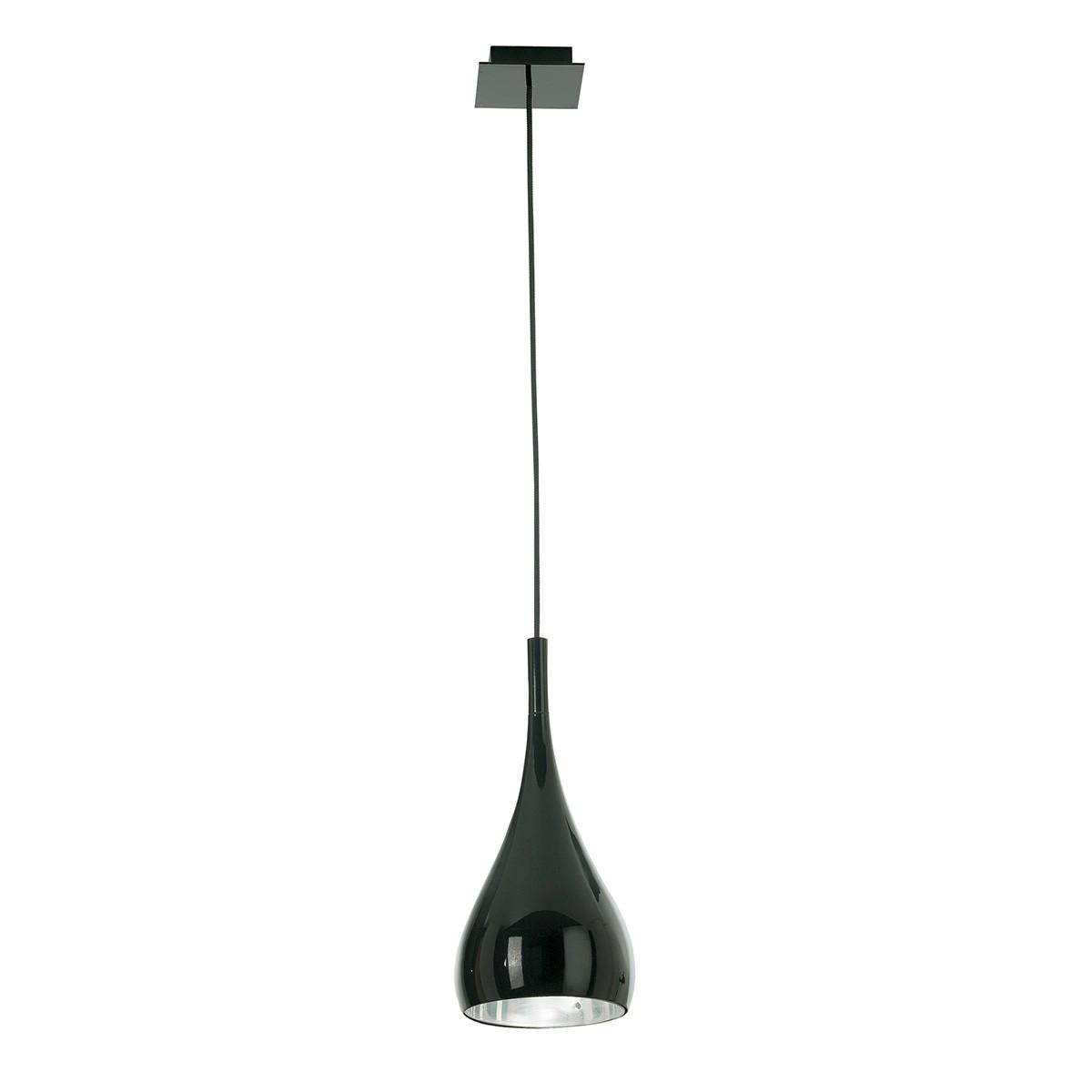 Fabbian Bijou Pendelleuchte, schwarz,Ø: 16 cm