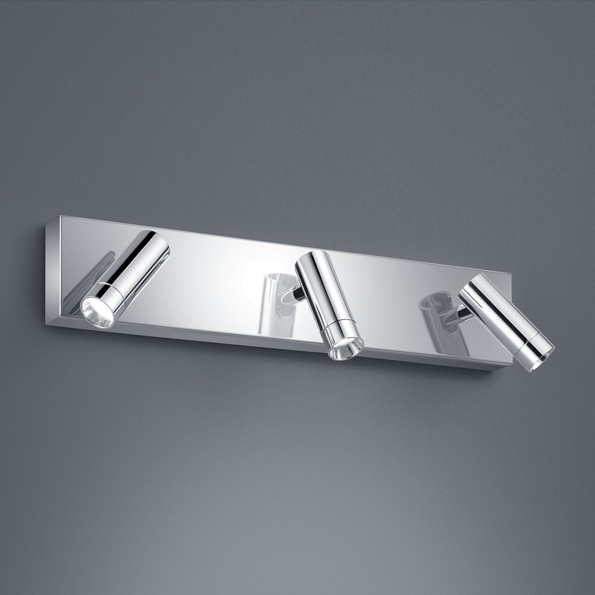 Helestra Zap Wand- / Deckenleuchte, 3-flg., Chrom
