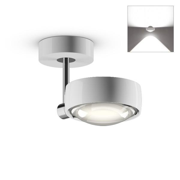 Occhio Sento E LED faro up, 10 cm, Chrom / weiß glänzend