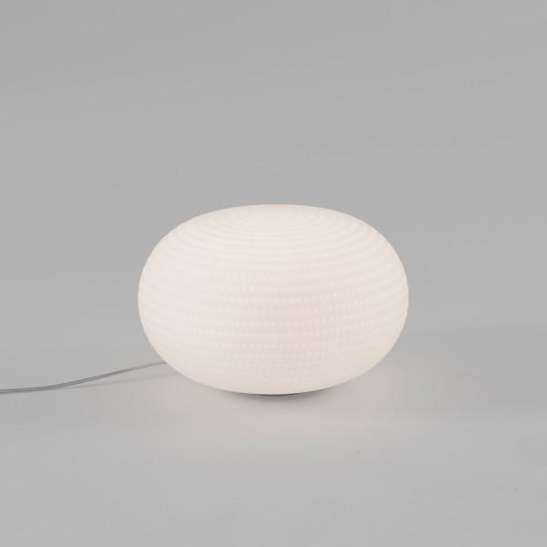 Fontana Arte Bianca Medium LED Tischleuchte, weiß satiniert