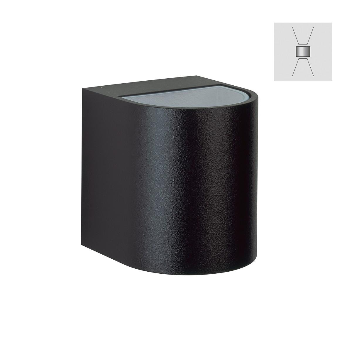 Albert 2402 Wandstrahler, breit/breit, schwarz