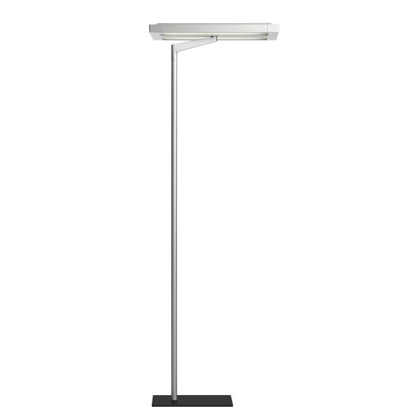 Belux Flat-12 Stehleuchte, Licht asymmetrisch, Aluminium