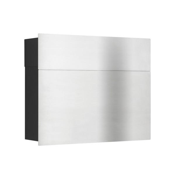 LCD Außenleuchten 3020/3021 Briefkasten, Edelstahl/schwarz, geschlossen
