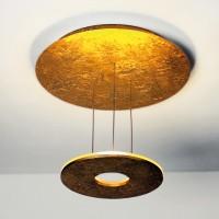 Saturn Deckenleuchte, Blattgold, extern dimmbar
