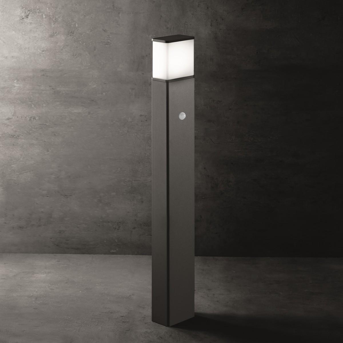 Lupia Licht Luka T Pollerleuchte, mit Sensor, anthrazit