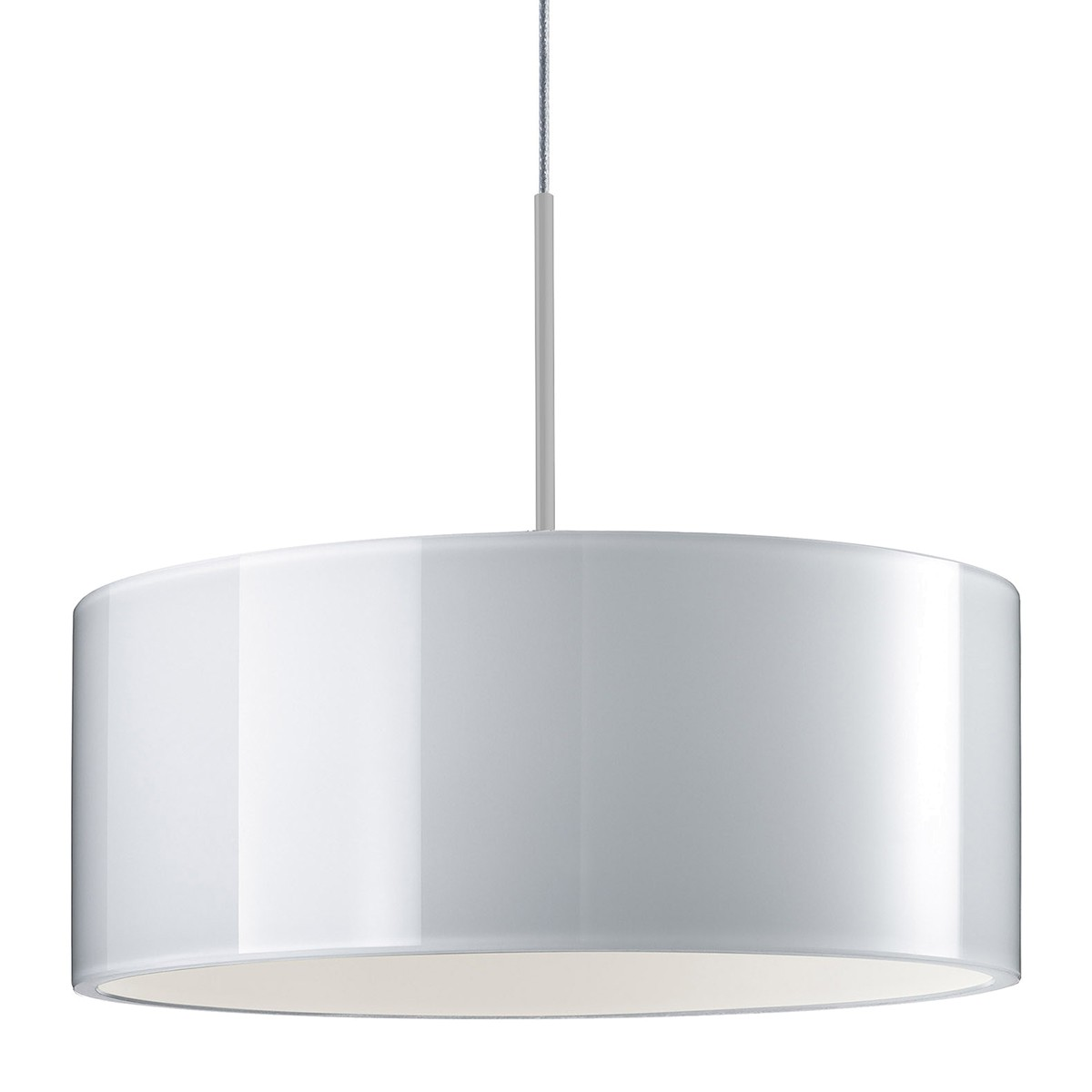 Bruck Duolare Cantara Glas Chrom matt Ø: 30 cm, LED Pendelleuchte, weiß