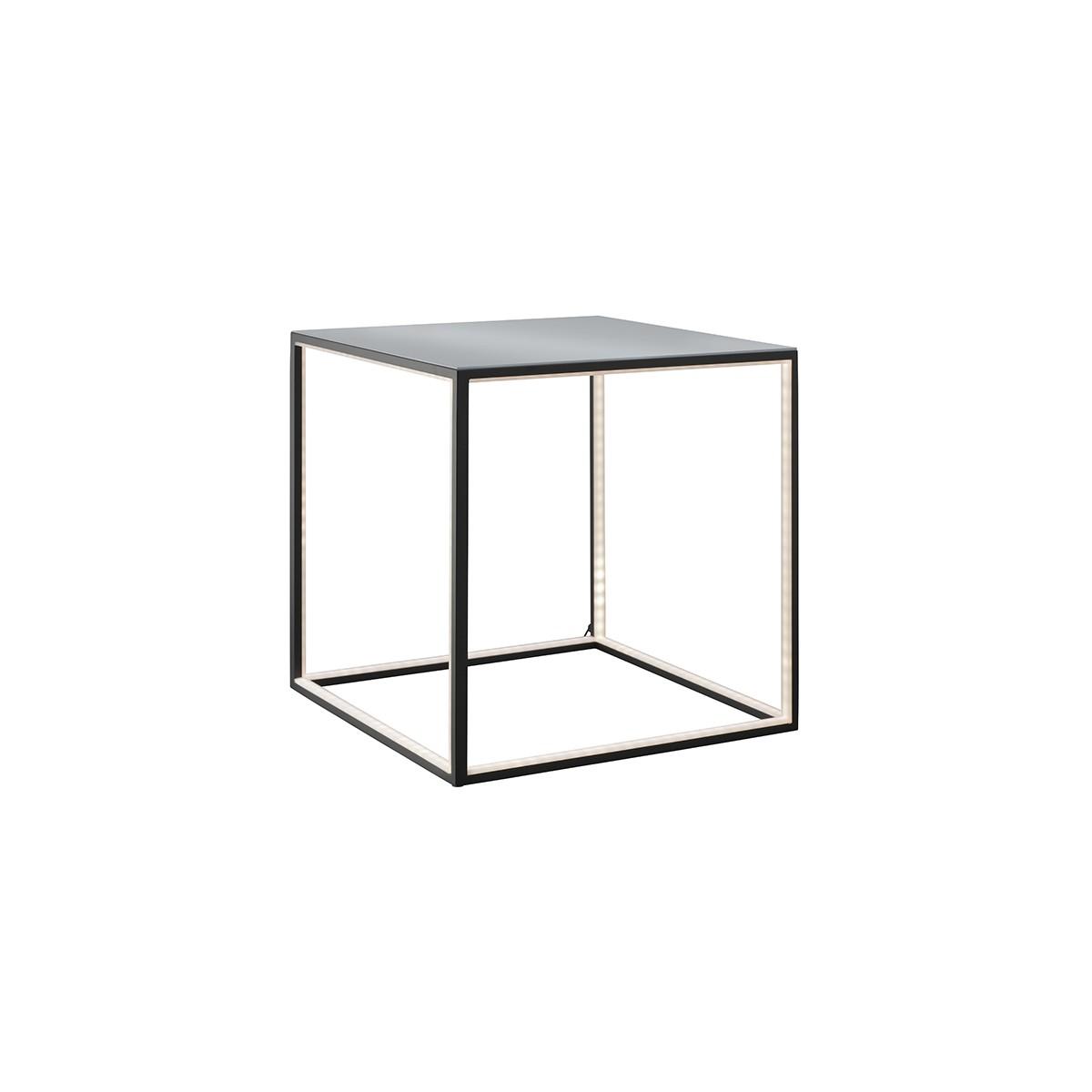 Sompex Delux LED Stehleuchte 42 x 42 cm, schwarz, Glas: gefrostet