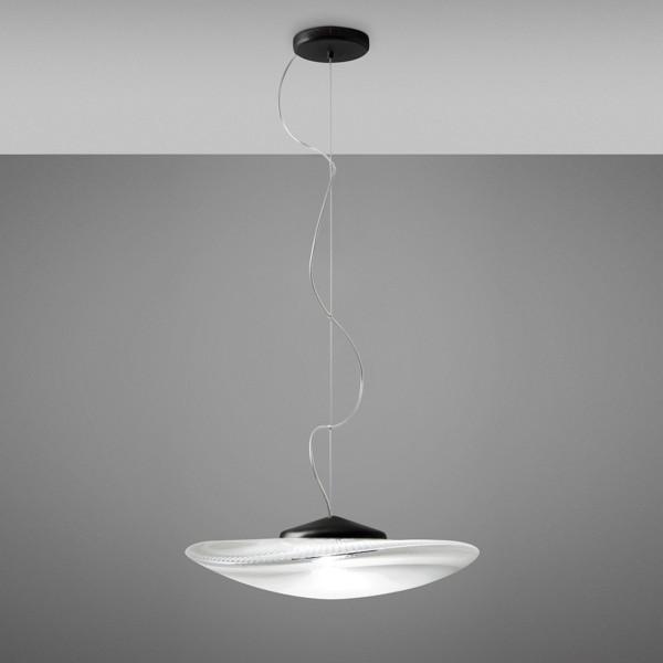 Loop Pendelleuchte LED, schwarz - transparent