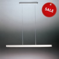 Talo 90 Sospensione Fluo %Sale%, weiß, dimmbar, Länge: 90 cm