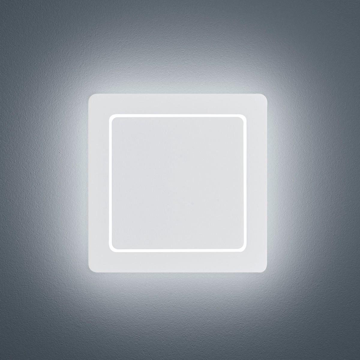 Helestra Fogo LED Außenwandleuchte, eckig, weiß matt