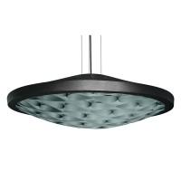 LZF Lamps Cervantes LED Pendelleuchte, Metallkörper: schwarz, innen: türkis
