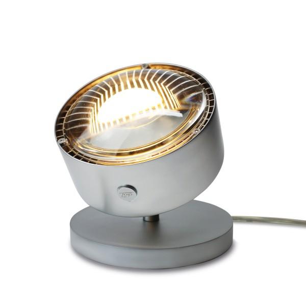 Top Light Puk Maxx Spot LED Tischstrahler, Gehäuse, Chrom matt, mit Einsatz Linse klar