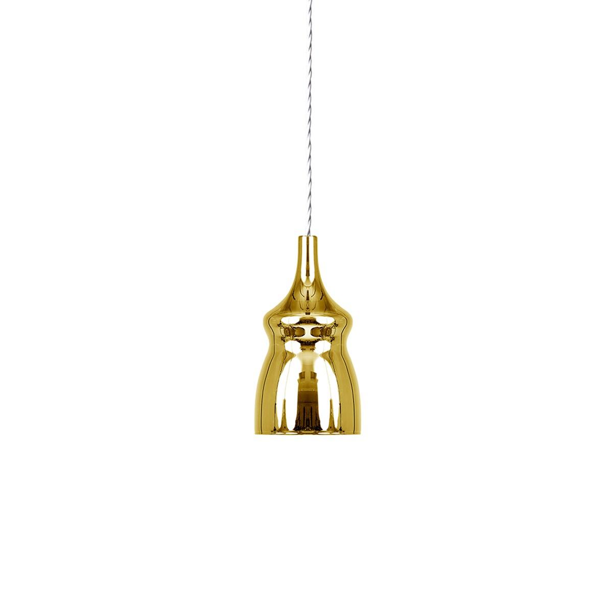 Studio Italia Design Nostalgia Glas Small Pendelleuchte 1-flg., Chrom - Gold