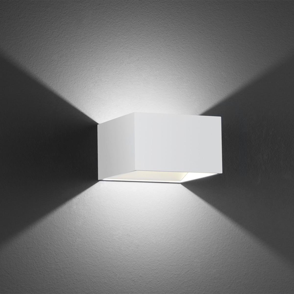B-Leuchten Cube Wandleuchte, weiß
