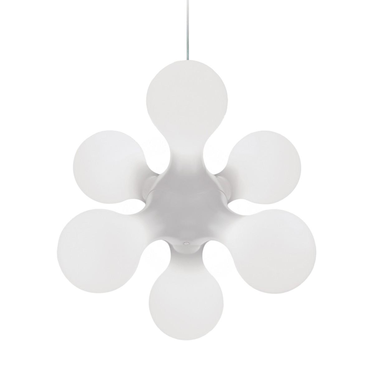 Kundalini Atomium Ceiling Pendelleuchte, weiß glänzend