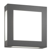 Aqua Legendo Wandleuchte, anthrazit, 13 W LED
