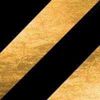 Lederam C150 Deckenleuchte, schwarz/Gold, Stange: schwarz, Scheibe: Gold