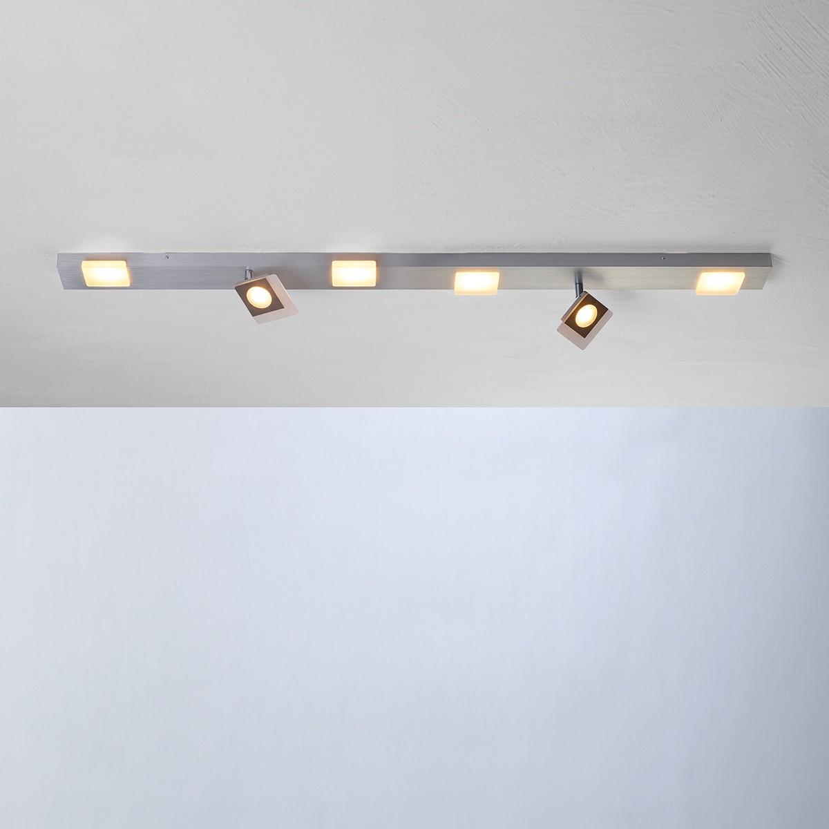 Bopp Session LED Deckenleuchte, 6-flg., Aluminium geschliffen