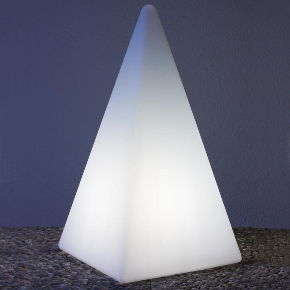 Epstein-Design Pyramide 73 Akku Stehleuchte LED, RGB mit Funkfernbedienung