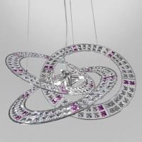 MARCHETTI Trilogy S66 Pendelleuchte, Kristallglas klar / violett