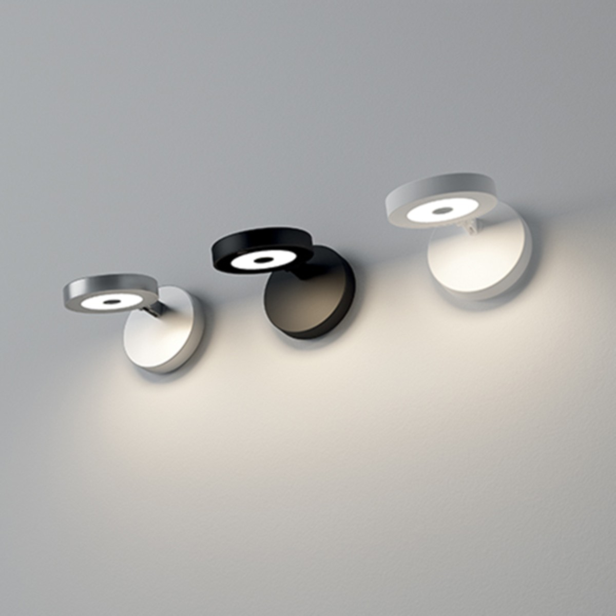 Rotaliana String H0 LED Wandleuchte, schwarz