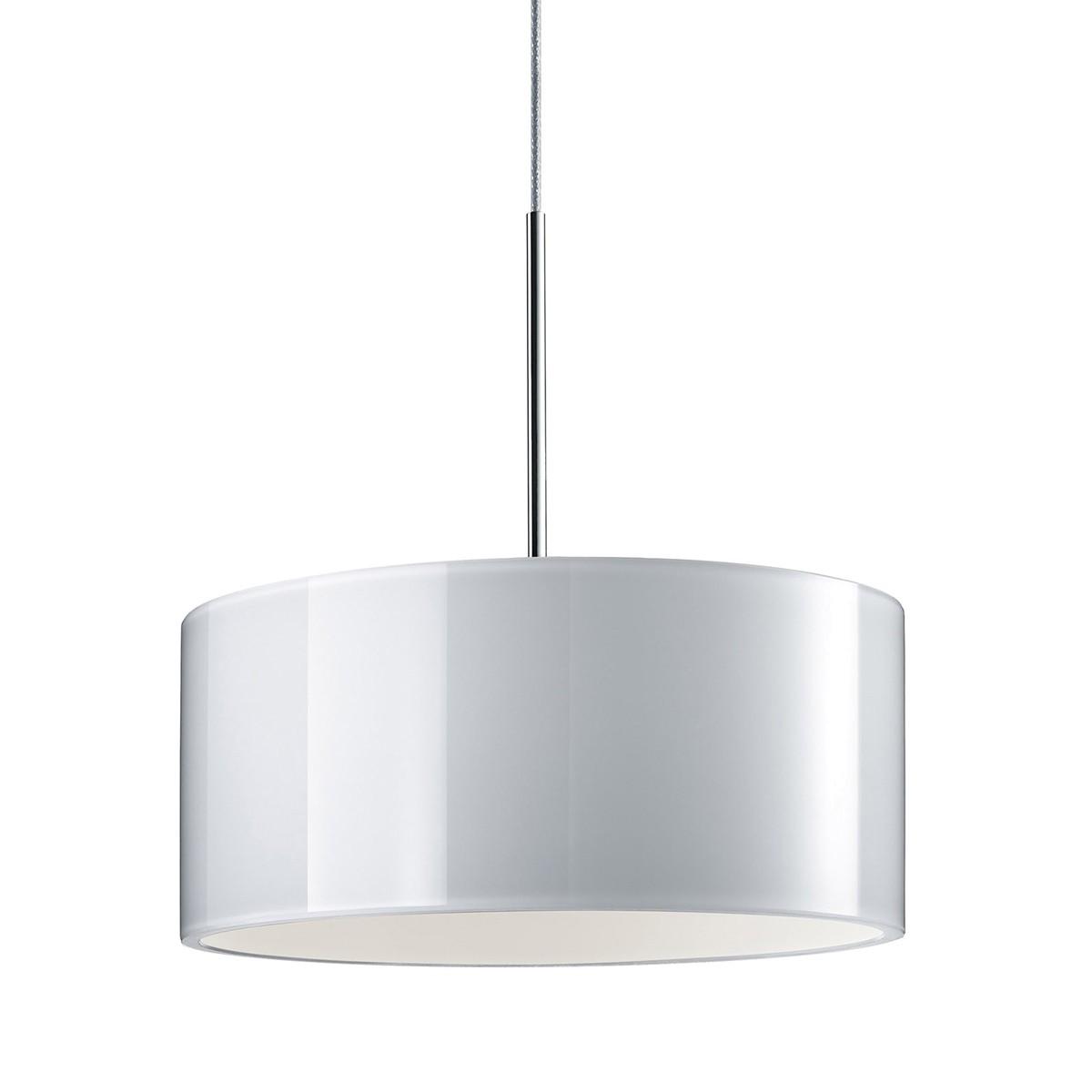 Bruck Duolare Cantara Glas Chrom Ø: 19 cm, LED Pendelleuchte, Glas: weiß