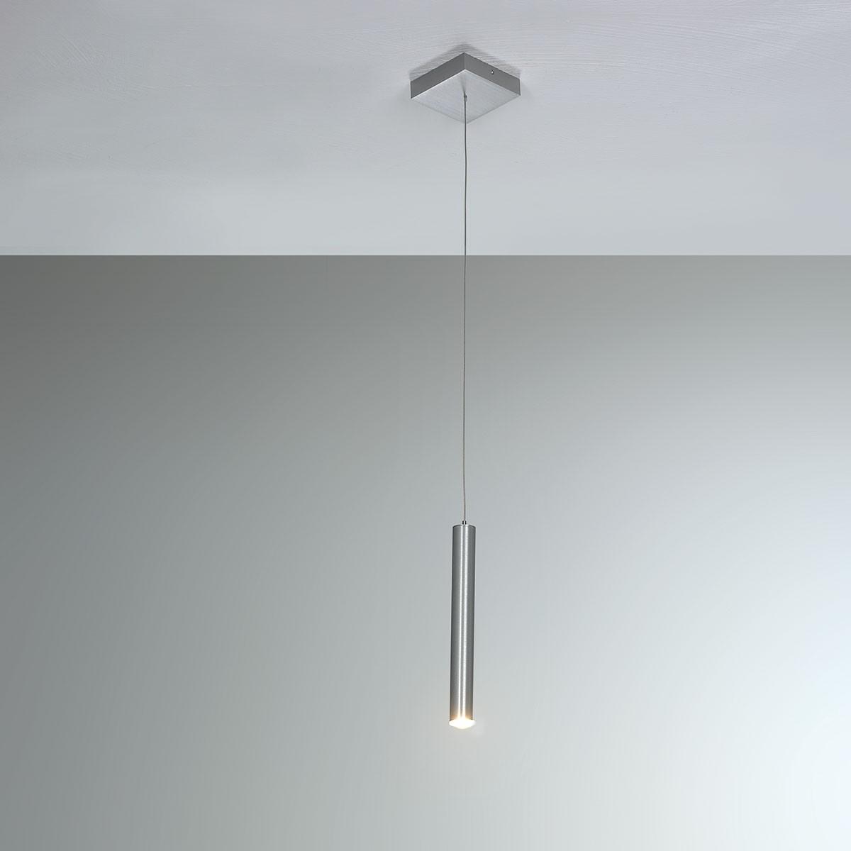 Bopp Plus LED Pendelleuchte, mit Casambi Modul, 1-flg., Aluminium geschliffen