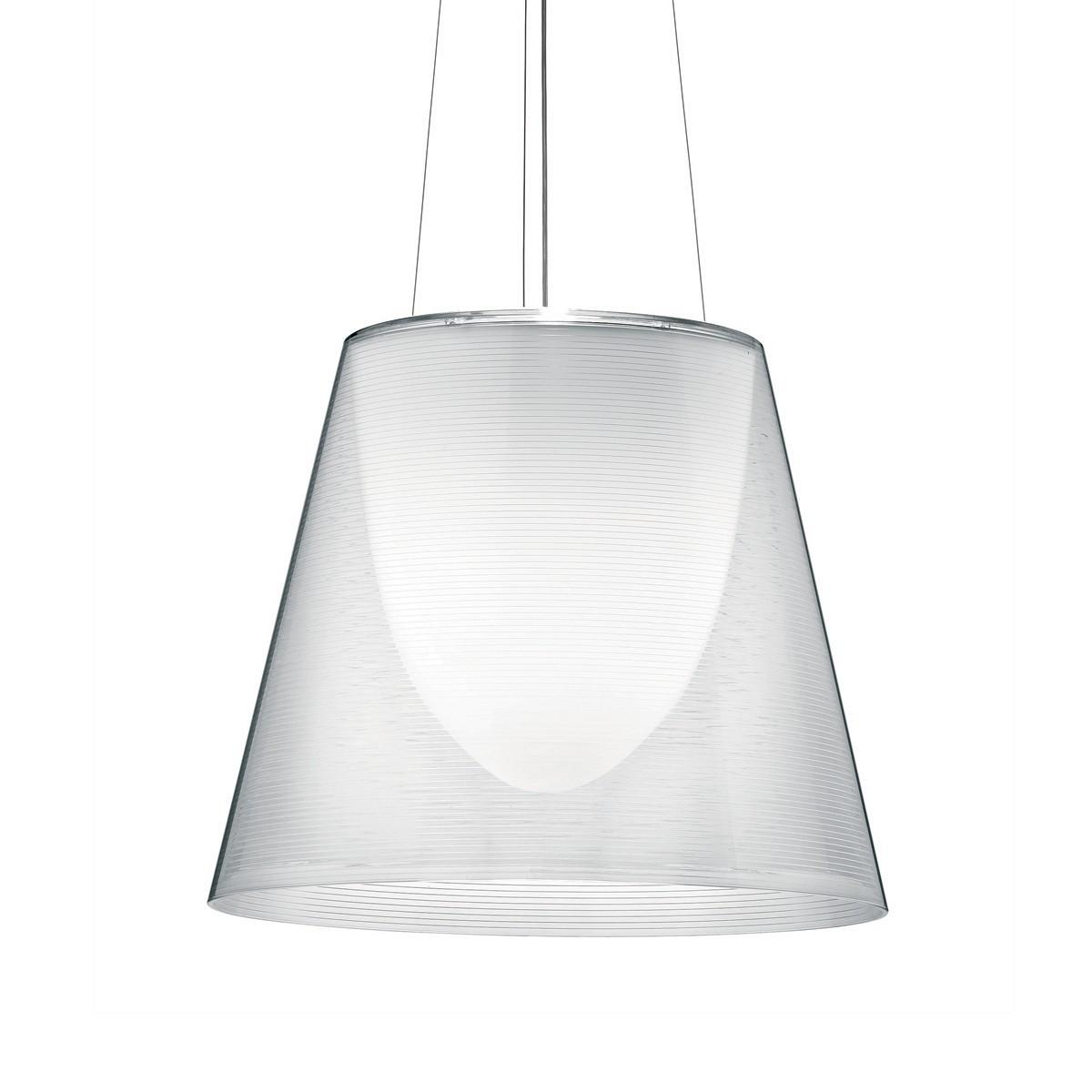 Flos KTribe S Pendelleuchte, S3, Ø: 55 cm, transparent