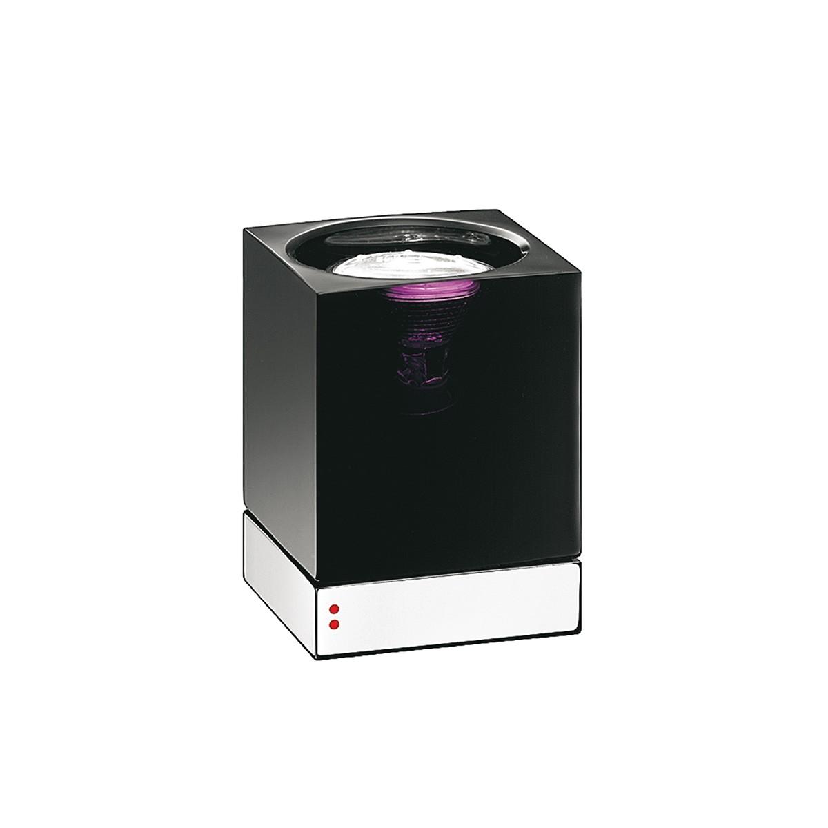 Fabbian Cubetto Tischleuchte, GU10, schwarz - chrom