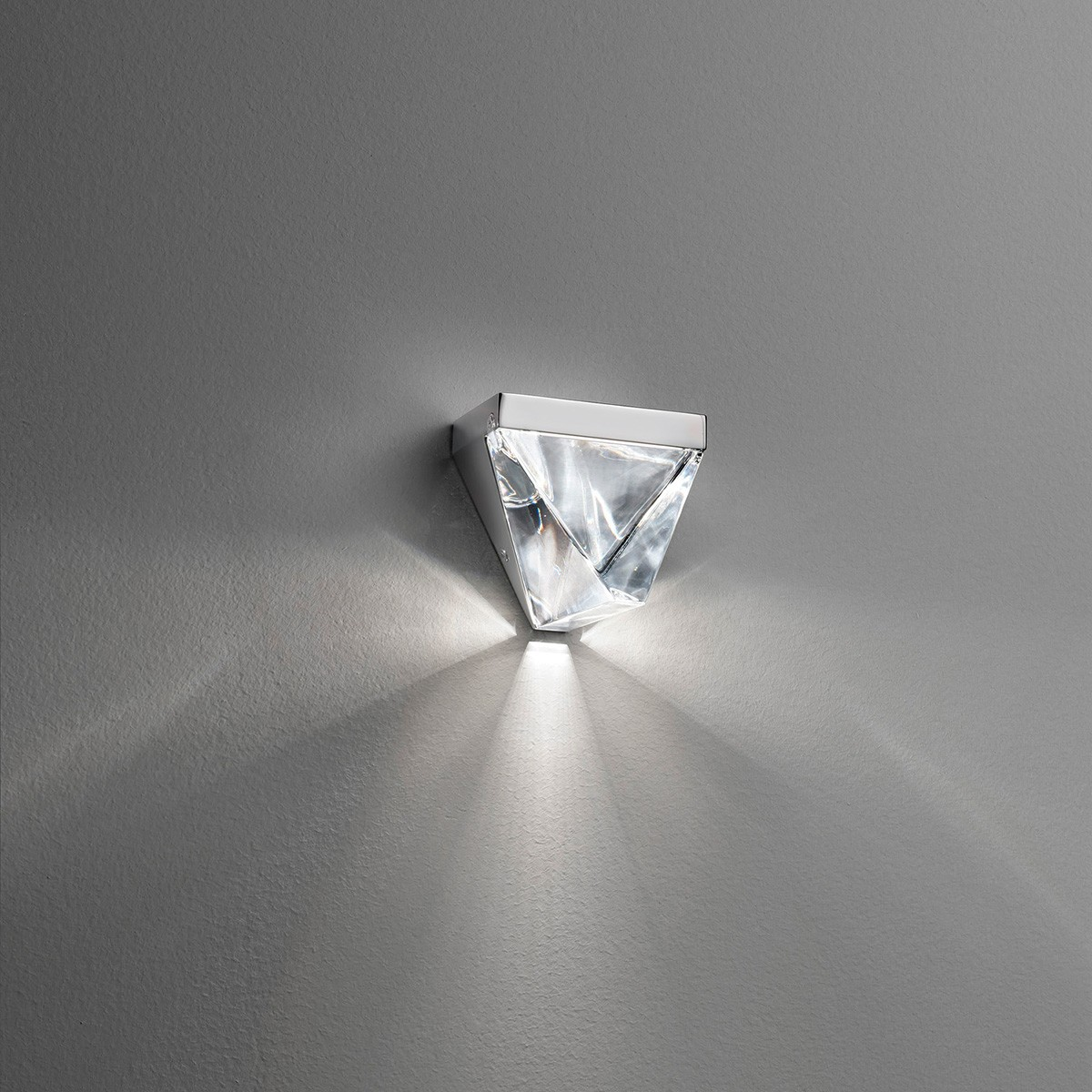 Fabbian Tripla Wandleuchte, Aluminium poliert