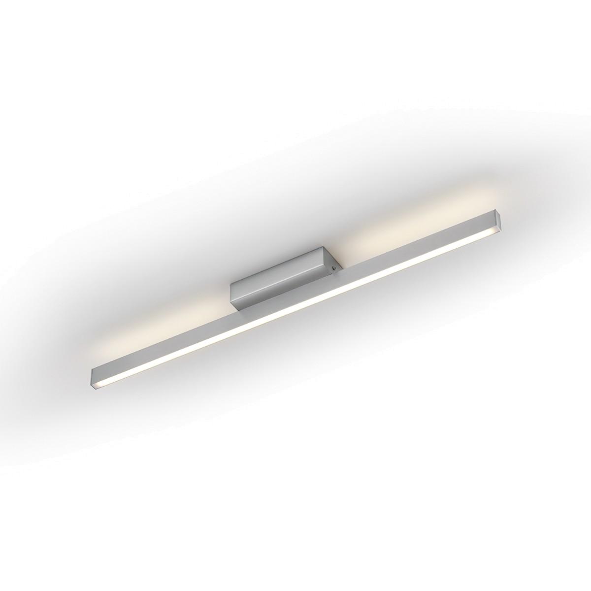 Knapstein 91.33x Deckenleuchte, Länge: 76 cm, Nickel matt