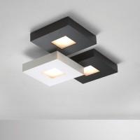 Cubus Deckenleuchte 3-flg., schwarz-weiß
