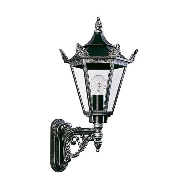 Albert Leuchten 1806 Außenwandleuchte, schwarz-silber