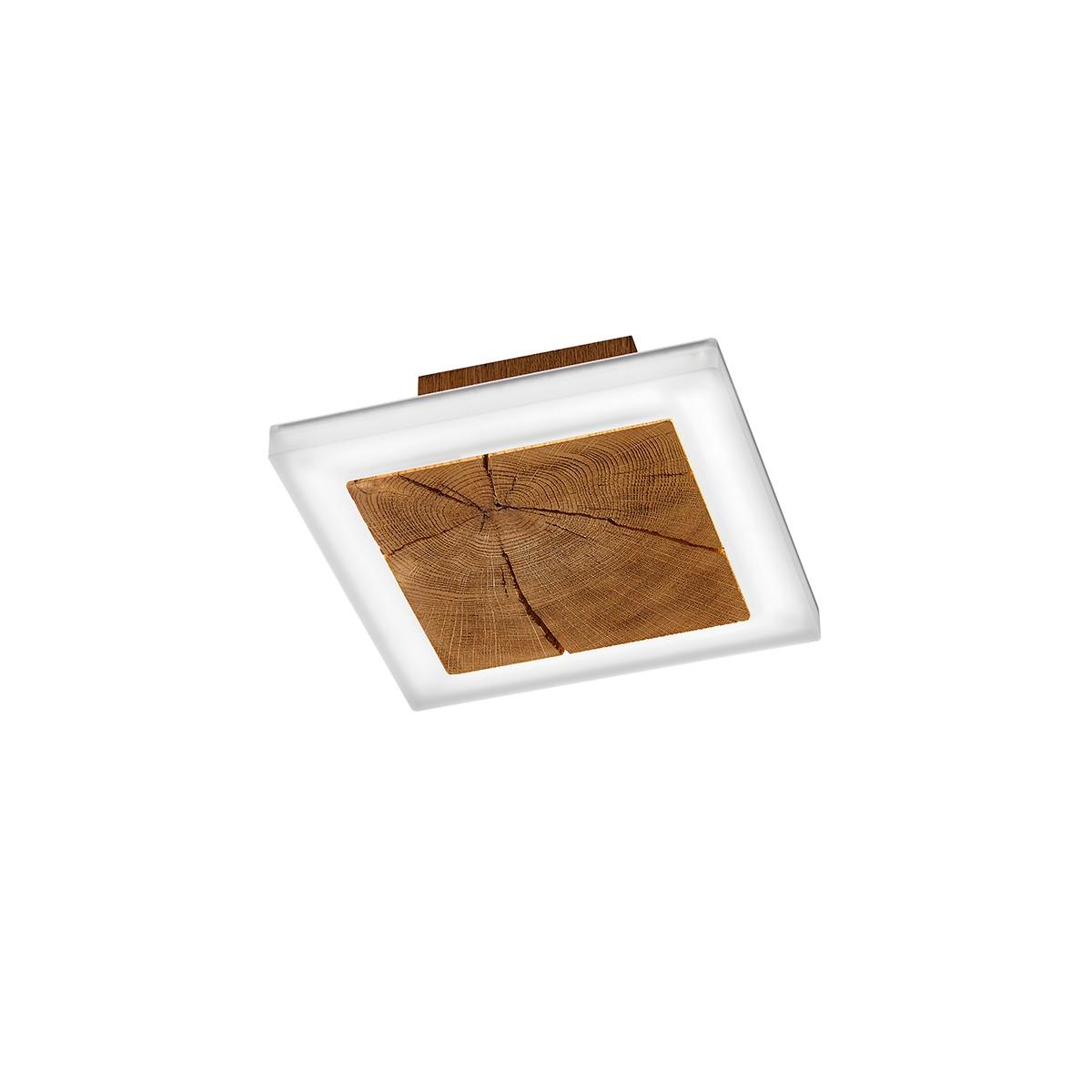 Bankamp Gaya Wood Wand- / Deckenleuchte, Holz / Chrom