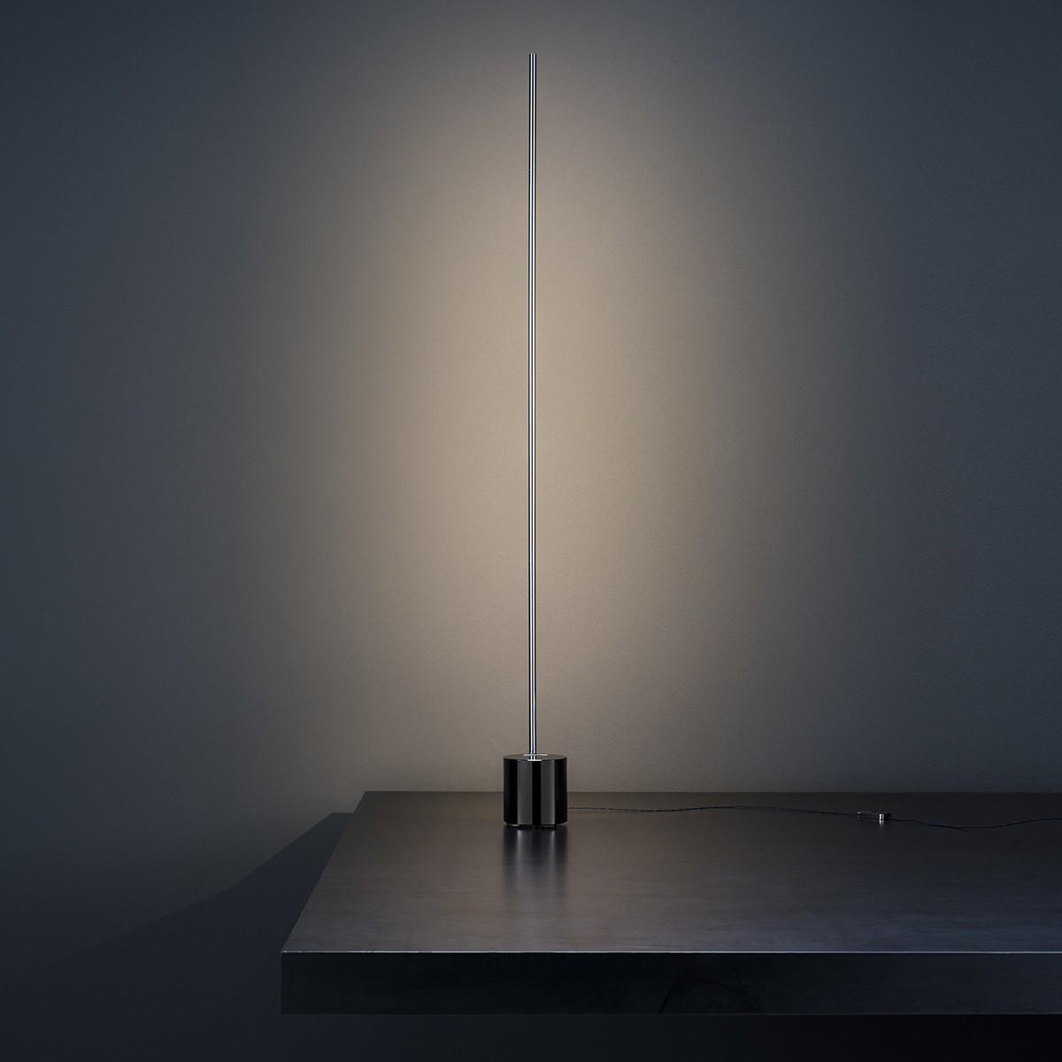 Catellani & Smith Light Stick T LED Tischleuchte, Nickel, Sockel: Metall brüniert