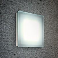 Sole Wand- / Deckenleuchte, quadratisch, 3000K, Siebdruckglas