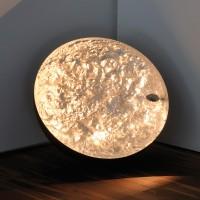 Stchu-Moon 01 Bodenleuchte, Ø: 40 cm, Kupfer, außen schwarz