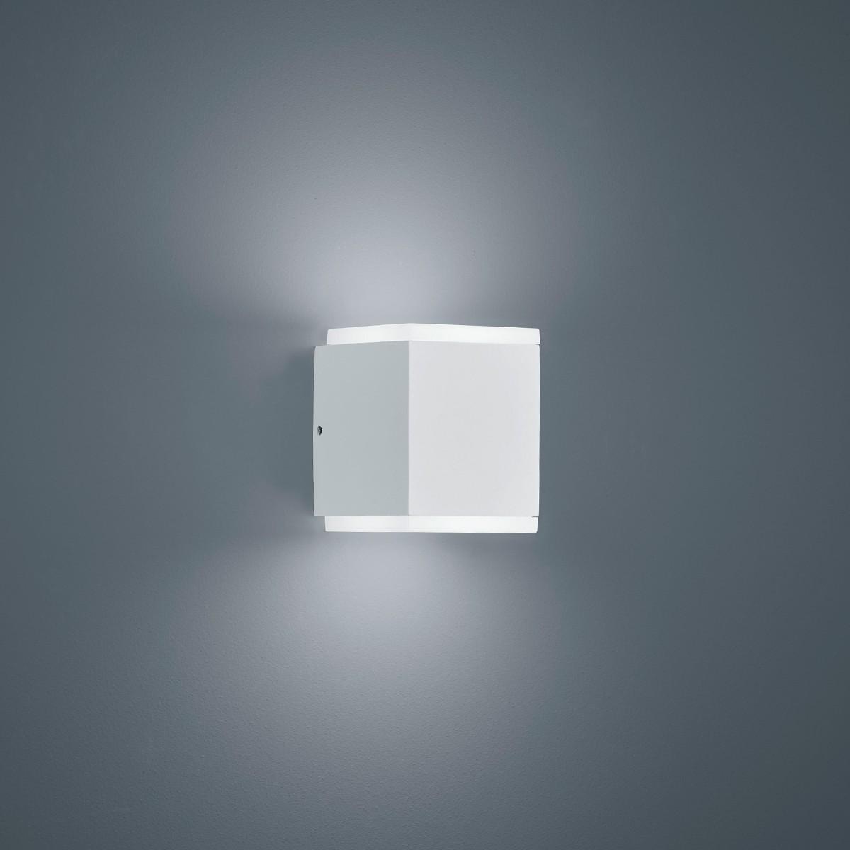 Helestra Kibo LED Außenwandleuchte, weiß matt
