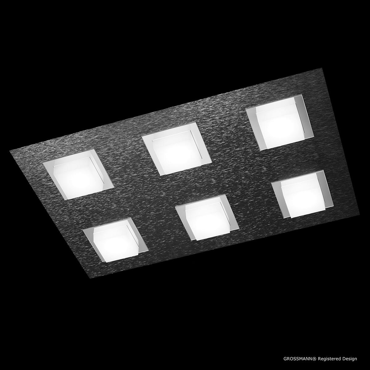 Grossmann Basic Wand- / Deckenleuchte 6-flg., anthrazit