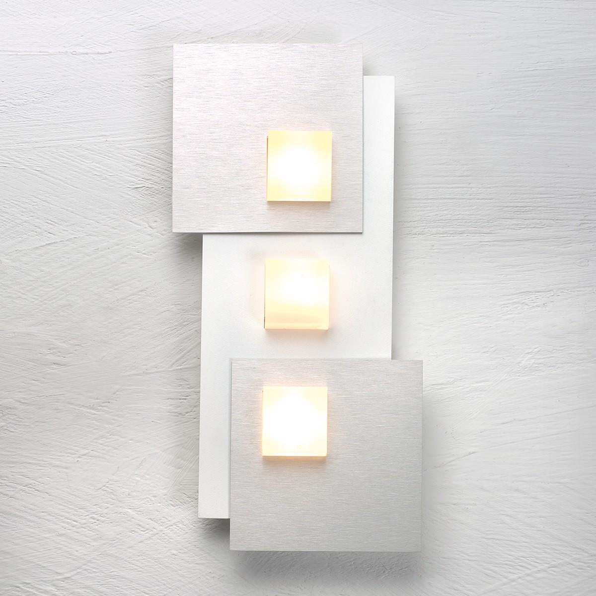 Bopp Pixel 2.0 LED Deckenleuchte 3-flg., weiß, Dekoplatte: Aluminium