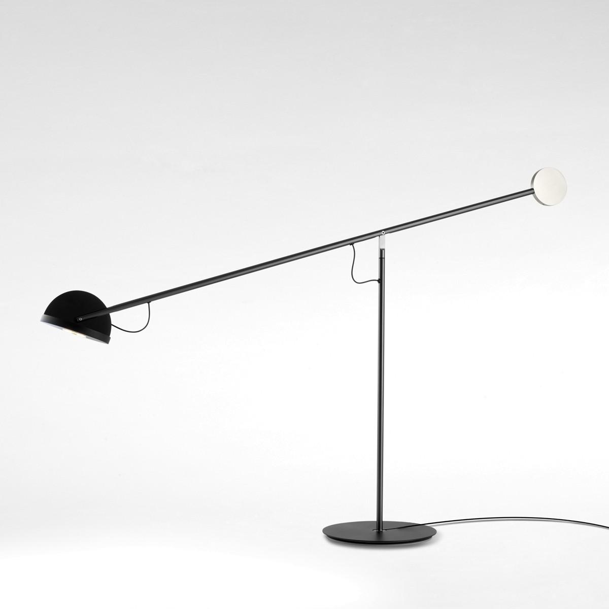 Marset Copérnica M LED Tischleuchte, graphit, Kopf: schwarz, Gegengewicht: golden